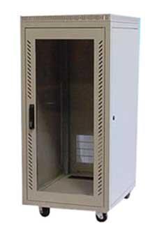 "24U Cabinet, 23.5x31.5x52""(h), black or beige, 205 lbs ..."