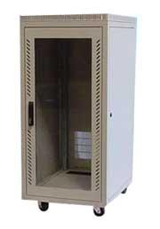 "24U Cabinet, 23.5x31.5x52""(h), black or beige, 205 lbs"