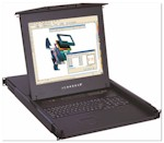 "1U Rackmount 17"" LCD Keyboard Drawer, PS/2 or USB notebook keyboard & ..........."
